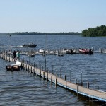 Eagle Nest Lodge Boat Slips on Cutfoot Sioux Lake