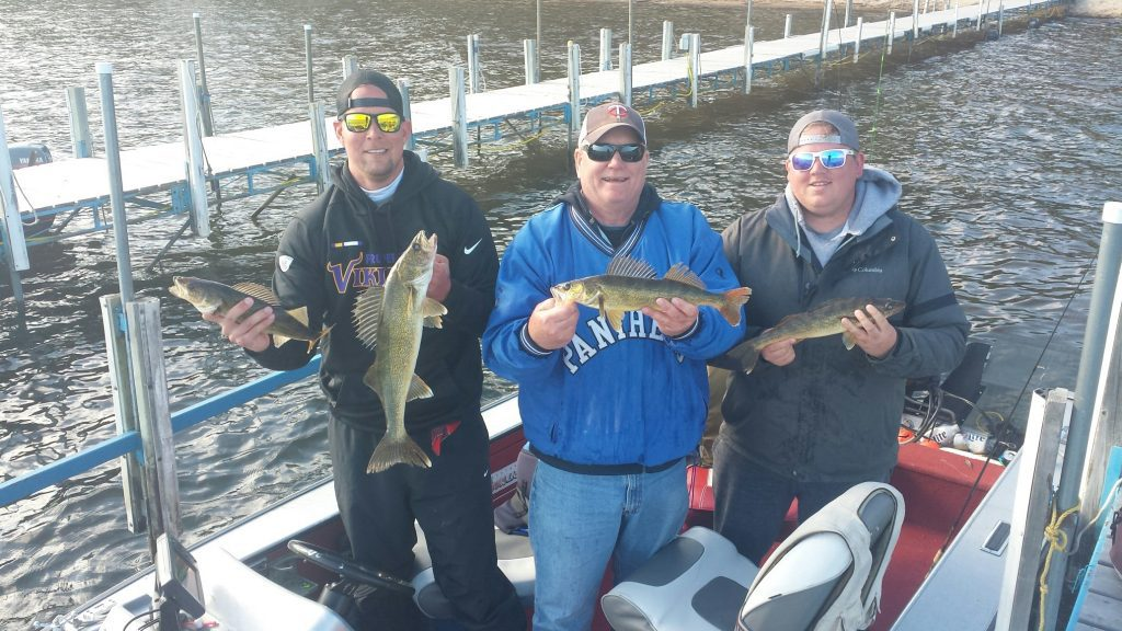 Peder and the boys caught nice keeper walleyes Fishing Opener morning.