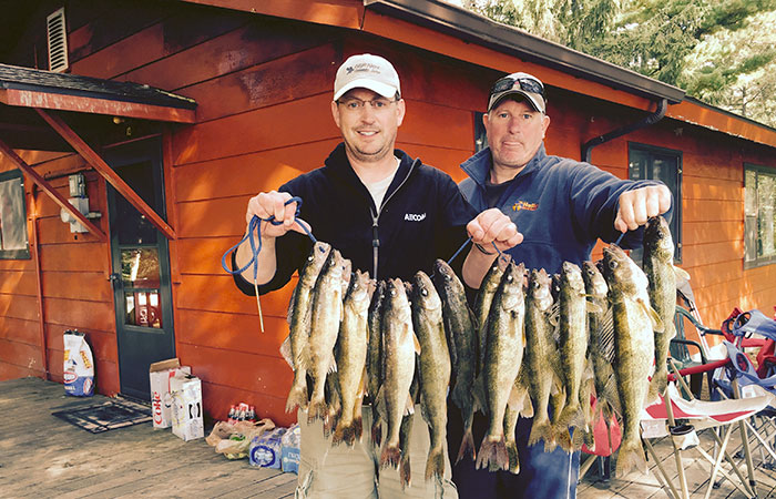 Walleye Fishing on Cutfoot Sioux Lake.