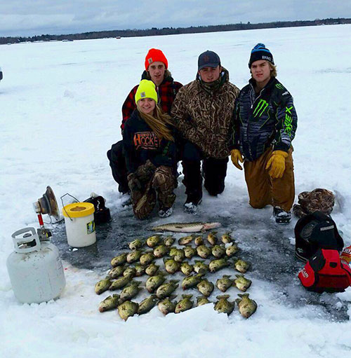 A successful day of Minnesota ice fishing on Lake Winnie & Cutfoot Sioux Lake.